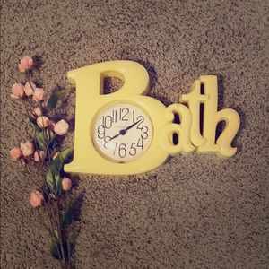 Other - Cute bathroom clock